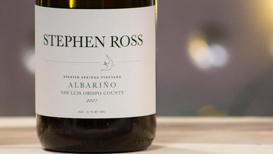Stephen Ross Albarino in SLO Coast Wine Region